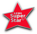 ABWA Super Star pin