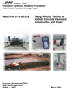 Using Maturity Testing for Airfield Concrete Pavement Repair (JP011|PRINTED)