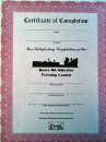 RA Adjuster Certificates