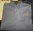 Port Authority® Long Sleeve Denim Shirt - Medium