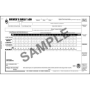 Driver's Daily Log Book With Detailed DVIR - Simplified Recap 2ply Carbon(8532)
