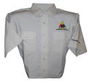 Shirt, Short Sleeve Poly/Cotton blend- Khaki - Medium