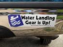 Bumper Sticker : Water Landing