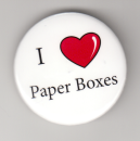 I 'heart' Paper Boxes pin