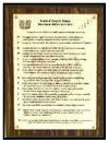 Warrant Officers Code Plaque